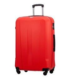 Duża walizka PUCCINI ABS03 Paris czerwona