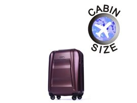 Mała walizka PUCCINI PC017 New York bordowa