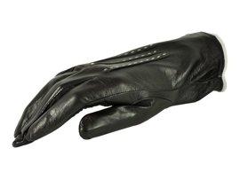 Rękawiczki damskie PUCCINI D-692 czarne z białą nitką
