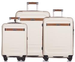 Zestaw trzech walizek PUCCINI PC020 Stockholm biały