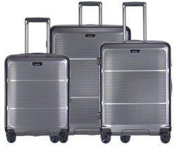 Zestaw trzech walizek PUCCINI PC021 Vienna szary